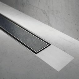 Abdeckset Modulo Design Z-2 Fliese Rahmen Edelstahl gebürstet