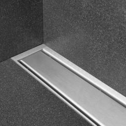 Duschrinne Compact 50 TAF Wall Wechselrahmen edelstahl - Fliese