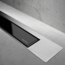 Abdeckset Modulo Design Z-3 Edelstahl gebürstet / Glas Schwarz