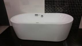 Freistehende Badewanne 85 x 180 cm weiß glzd.