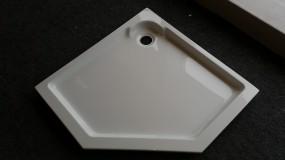 Duschtasse Acryl5 eck 100 x 100 cm Weiß glänzend - Sonderposten
