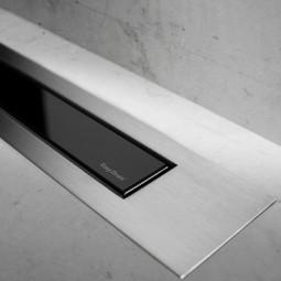Abdeckset Modulo Design Z-4 Glas Schwarz / Edelstahl gebürstet