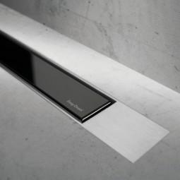 Abdeckset Modulo Design Z-2 Glas Schwarz / Edelstahl gebürstet