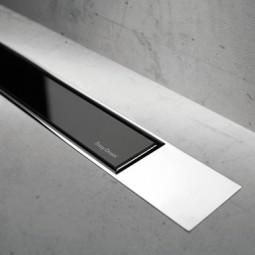 Abdeckset Modulo Design Z-2 Glas Schwarz / Edelstahl verchromt