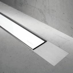 Abdeckset Modulo Design Z-2 Glas Weiß / Edelstahl gebürstet